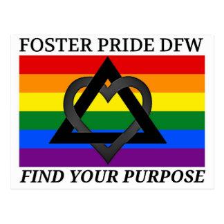 プライドDFWのロゴを促進して下さい ポストカード
