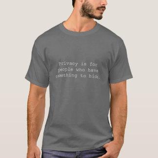 プライバシーはforpeopleで隠れるためhavesomething tシャツ