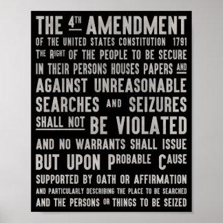 プライバシーポスターへの憲法修正第4条 ポスター