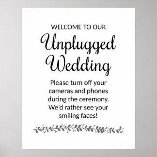 プラグを抜かれた結婚式の印-ロチェスター ポスター