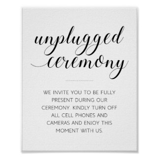プラグを抜かれた結婚式の印- Alejandra ポスター