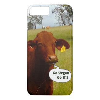 プラスおもしろいなビーガン牛iPhone 7 iPhone 8 Plus/7 Plusケース