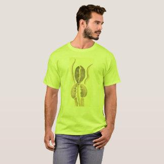 プラスの緑のSepieタンの花は6xを大きさで分類します Tシャツ