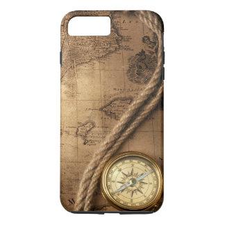 プラスコンパスおよび地図のiPhone 7堅い iPhone 8 Plus/7 Plusケース