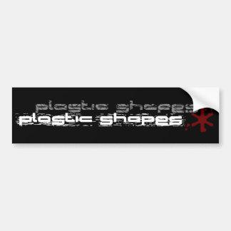プラスチックはバンパーステッカーを形づけます バンパーステッカー