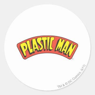 プラスチック人のロゴ ラウンドシール