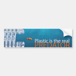 プラスチック捕食動物のバンパーステッカー バンパーステッカー