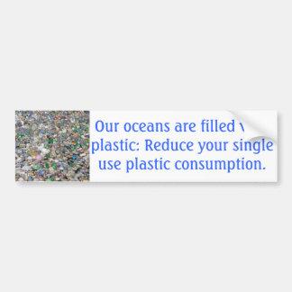 プラスチック汚染のバンパーステッカー バンパーステッカー
