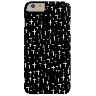 プラス夜黒のiPhone 6で交差させて下さい + 場合 Barely There iPhone 6 Plus ケース