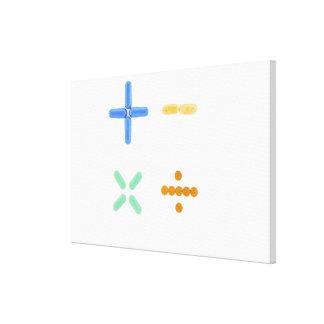 プラス符号の形の丸薬、引いて、 キャンバスプリント