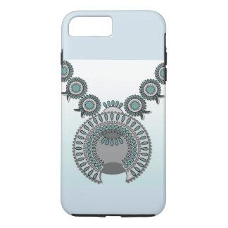 プラスAppleのiPhone 7堅い電話箱-スクエア花 iPhone 8 Plus/7 Plusケース