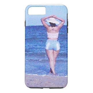 プラスiPhone 7タイトルを付けられる堅い: 人魚(oilPaint) iPhone 8 Plus/7 Plusケース