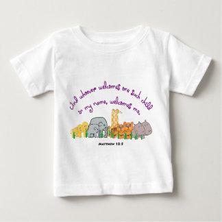プラタナスの種- Matthewの18:5 ベビーTシャツ