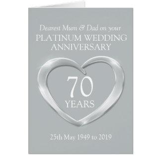 プラチナ結婚記念日のミイラおよびパパカード カード