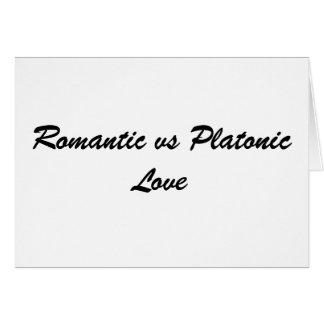 プラトニック・ラブ対ロマンチック カード