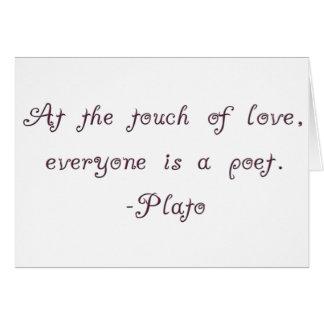 プラトン愛詩人の引用文 カード