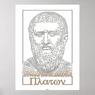 プラトン。 ギリシャの哲学者[014] ポスター