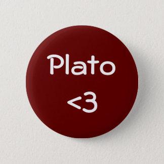 プラトン<3 5.7CM 丸型バッジ