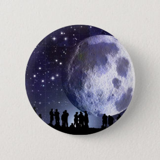 プラネタリウムは月の星の天文学のシルエットを描きます 5.7CM 丸型バッジ