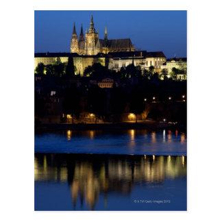 プラハのチェコスロバキア共和国の夜 ポストカード
