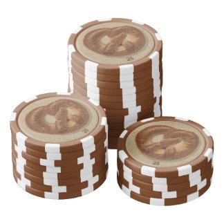 プラハのパンそしてプレッツェル ポーカーチップ
