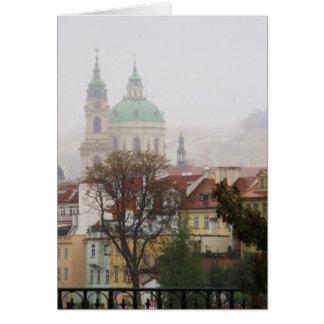 プラハの写真 グリーティングカード