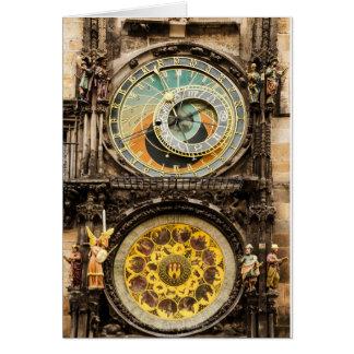 プラハの時計 カード