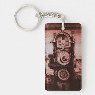 プラハの赤い天文時計Keychain キーホルダー