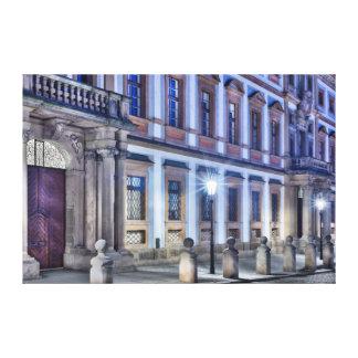 プラハトスカナ式宮殿夜キャンバス キャンバスプリント