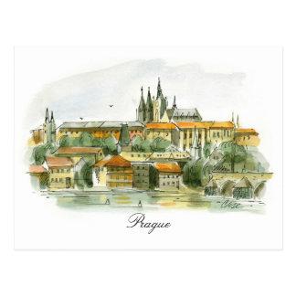 プラハ城の郵便はがき ポストカード