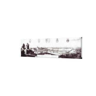 プラハ1649年の眺め キャンバスプリント