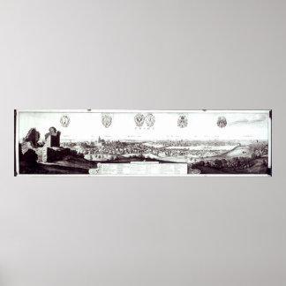 プラハ1649年の眺め ポスター