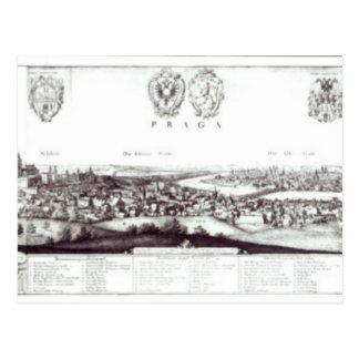プラハ1649年の眺め ポストカード