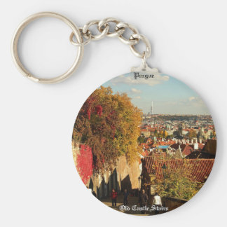 プラハ-古い城階段Keychain キーホルダー