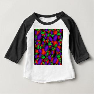 プラムおよびモモ ベビーTシャツ