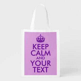 プラムおよび紫色は平静およびあなたの文字を保ちます エコバッグ