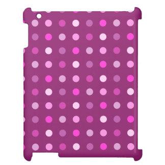 プラムのピンクの数々の点パターン iPadカバー