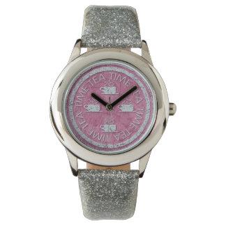 プラムの茶時間銀 腕時計
