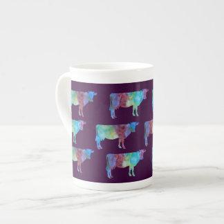 プラムの虹牛 ボーンチャイナカップ