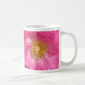 プラムばら色のマクロ コーヒーマグカップ