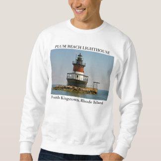 プラムビーチの灯台、N.キングスタウン、ロードアイランド スウェットシャツ