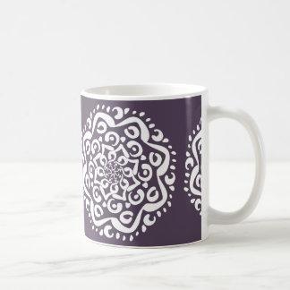 プラム曼荼羅 コーヒーマグカップ