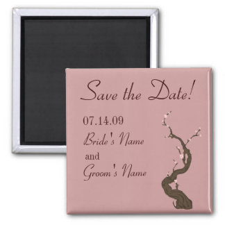 プラム桜の保存日付Magnent マグネット