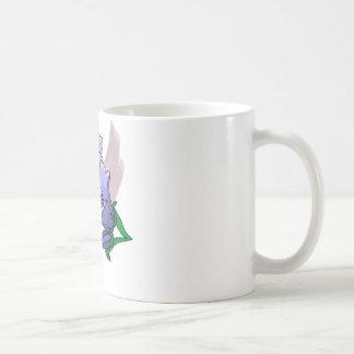 プラム渦巻の青チューリップ コーヒーマグカップ