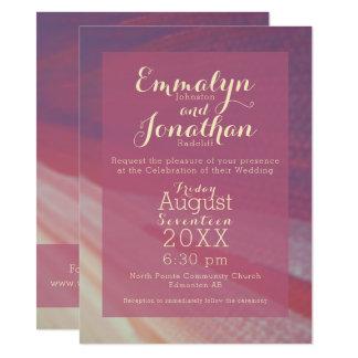 プラム珊瑚およびクリームのモダンの抽象芸術の招待状 カード