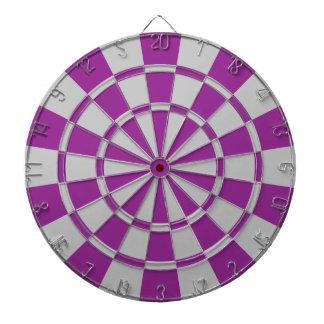 プラム紫色および灰色 ダーツボード