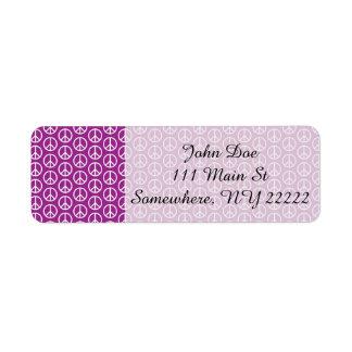 プラム紫色のピースサイン ラベル