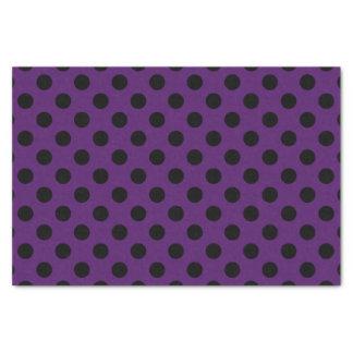 プラム紫色の黒い水玉模様 薄葉紙