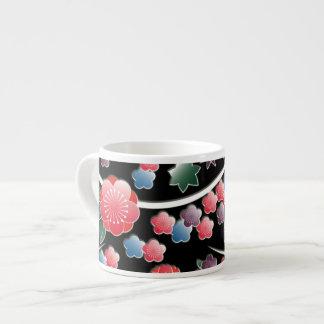 プラム花および葉 エスプレッソカップ
