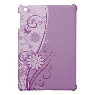 プラム花柄の場合 iPad MINIケース